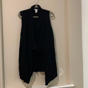 White House Black Market sleeveless long cardigan